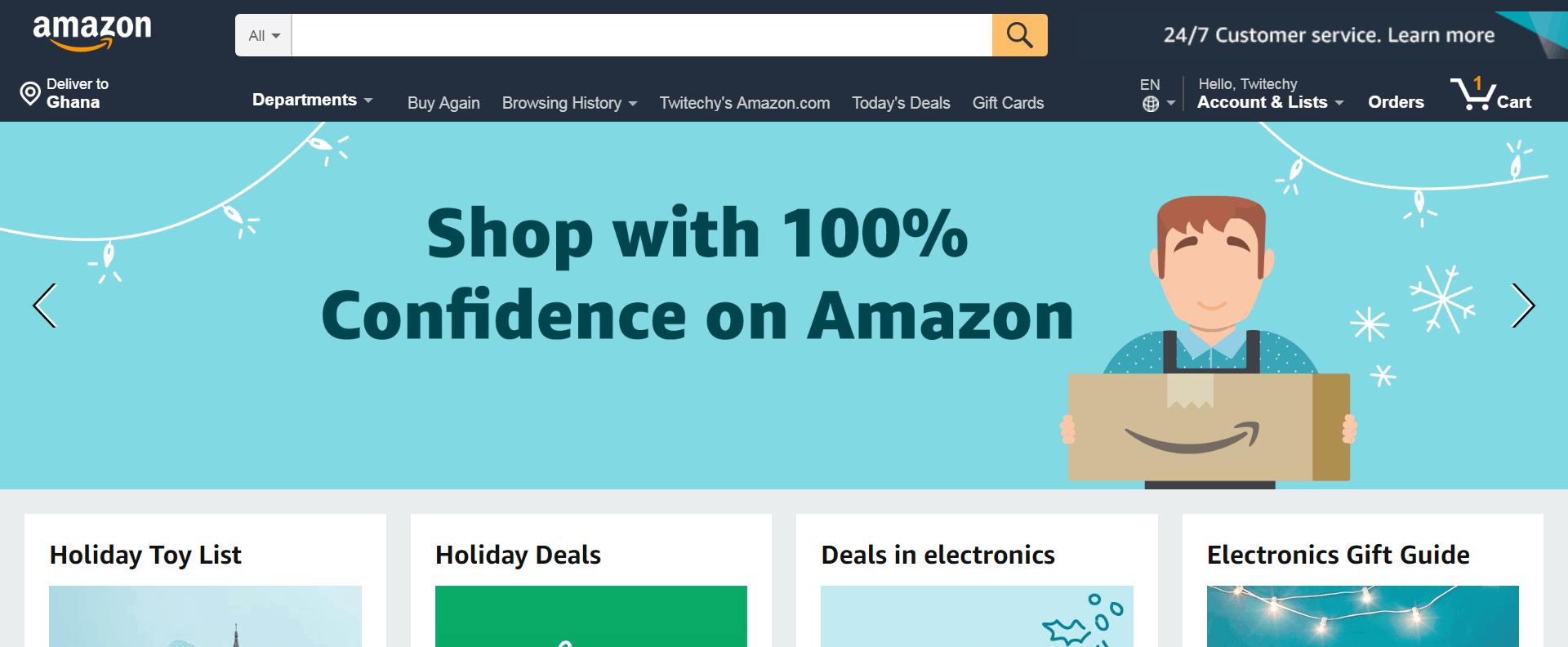 Amazon in Ghana Account