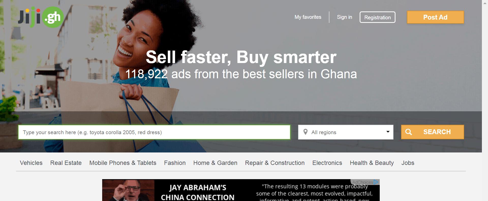 OLX(jiji) Ghana- online shop in Ghana