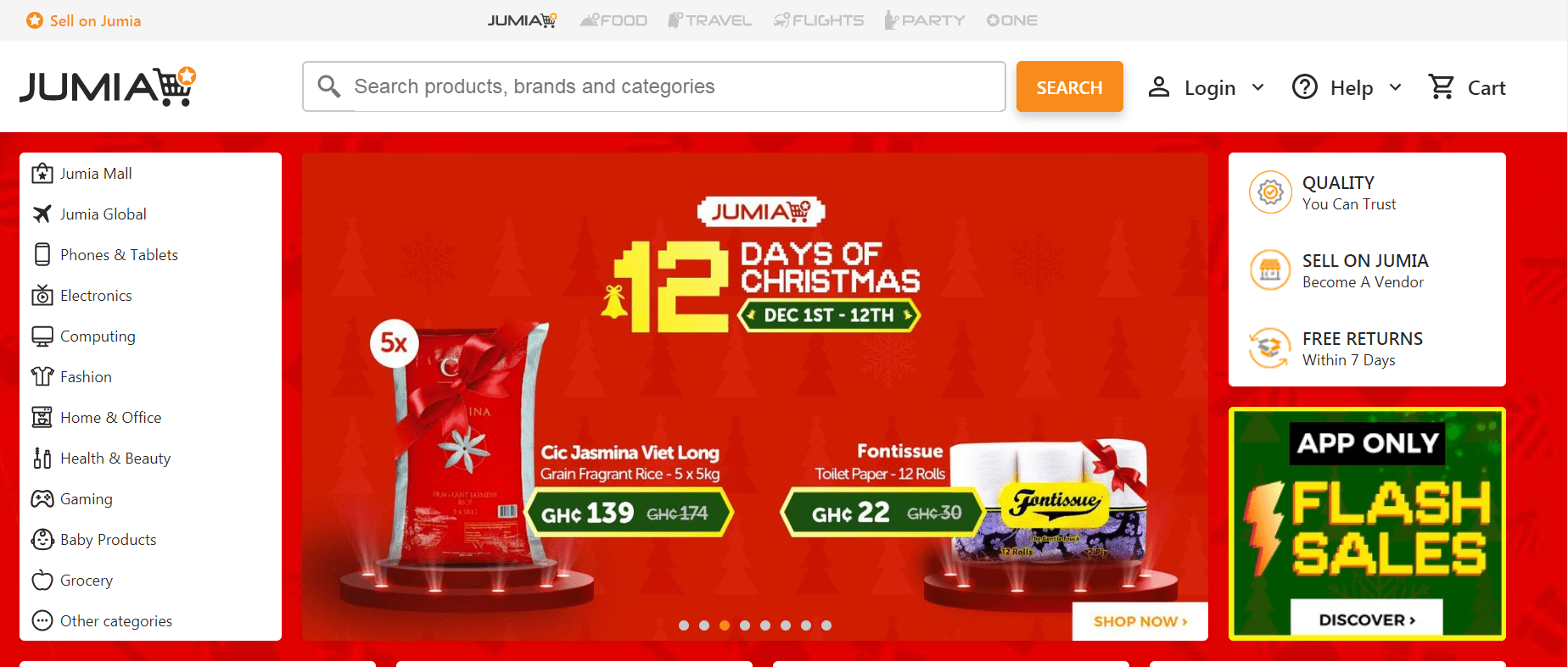 Jumia Ghana- online shop in Ghana